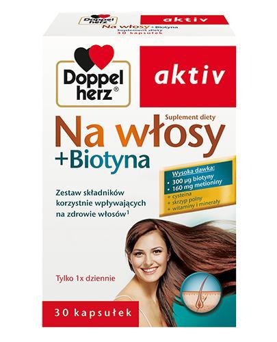 DOPPELHERZ AKTIV Na włosy + biotyna - 30 kaps. - Drogeria Melissa