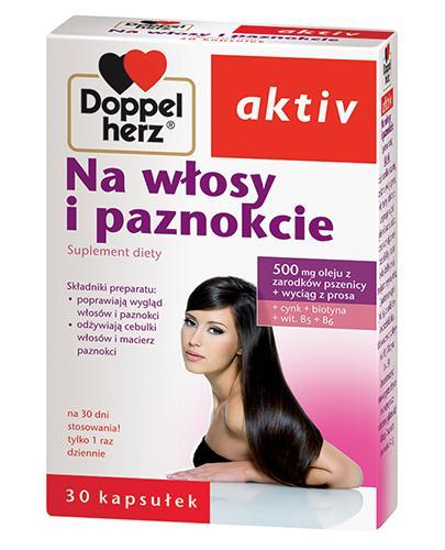 DOPPELHERZ AKTIV Na włosy i paznokcie - 30 kaps. - Drogeria Melissa