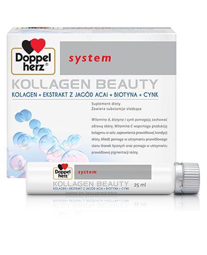 DOPPELHERZ SYSTEM Kollagen Beauty - do pielęgnacji skóry - 30 amp.  - cena, opinie, dawkowanie - Apteka internetowa Melissa