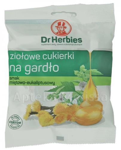 DR HERBIES Ziołowe cukierki na gardło miętowo-eukaliptusowe - 70 g