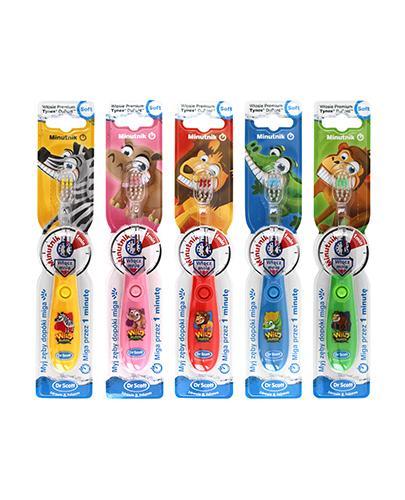 HYDREX DR SCOTT Świecąca szczoteczka do zębów dla dzieci z minutnikiem - 1 szt. - Apteka internetowa Melissa