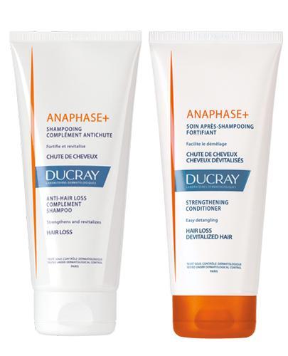 DUCRAY ANAPHASE+ Szampon uzupełnienie kuracji przeciw wypadaniu włosów - 200 ml + DUCRAY ANAPHASE+ Odżywka wzmacniająca - 200 ml - Apteka internetowa Melissa