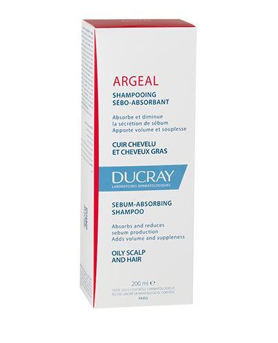 DUCRAY ARGEAL Szampon dermatologiczny do włosów tłustych - 200 ml - cena, opinie, właściwości  - Drogeria Melissa