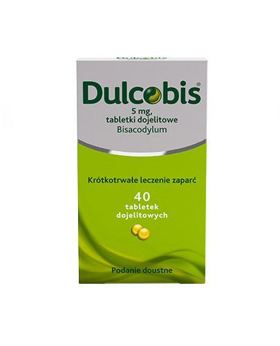DULCOBIS 5 mg - 40 tabletek dojelitowych. Lek na zaparcia. - Apteka internetowa Melissa