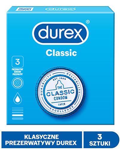DUREX CLASSIC Prezerwatywy - 3 szt. - cena, opinie, właściwości