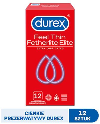 DUREX FETHERLITE ELITE Prezerwatywy supercienkie - 12 szt. - cena, opinie, właściwości