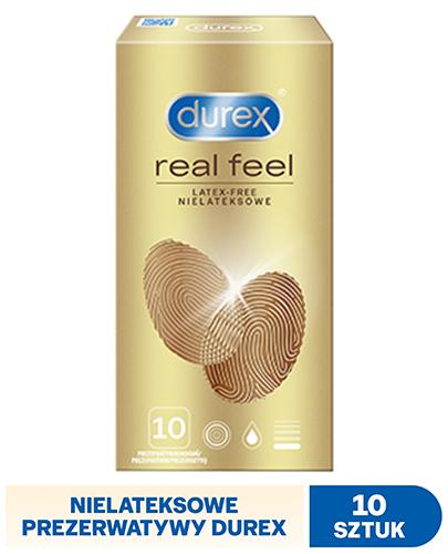 DUREX REAL FEEL Prezerwatywy bez lateksu - 10 szt. - prawdziwe doznania - cena, opinie, stosowanie - Drogeria Melissa
