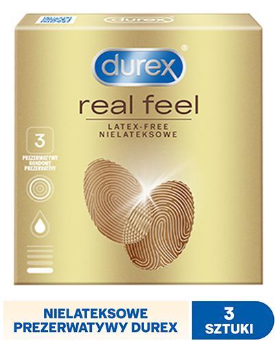 DUREX REAL FEEL Prezerwatywy nowej generacji nie-lateksowe - 3 szt. - Drogeria Melissa