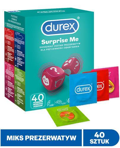 Durex Surprise My Variety Zestaw prezerwatyw - 40 szt. - cena, opinie, właściwości - Apteka internetowa Melissa