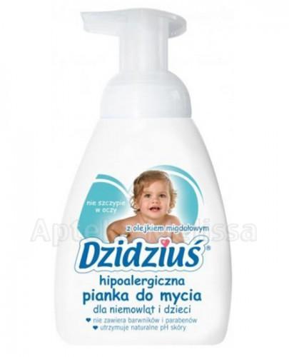 DZIDZIUŚ Hipoalergiczna pianka do mycia dla niemowląt i dzieci z olejkiem migdałowym - 275 ml - Apteka internetowa Melissa