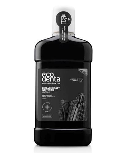 ECODENTA Czarny wybielający płyn do płukania jamy ustnej - 500 ml - Apteka internetowa Melissa