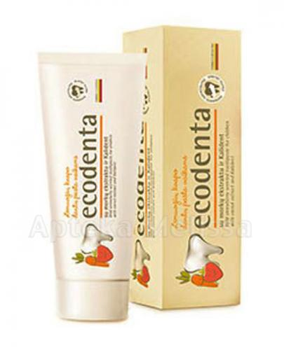 ECODENTA Pasta do zębów dla dzieci o zapachu poziomki - 75 ml - Apteka internetowa Melissa