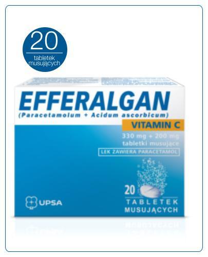 EFFERALGAN VITAMIN C 200 mg - 20 tabl. mus. - cena, opinie, wskazania - Apteka internetowa Melissa