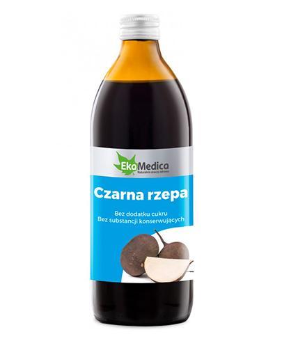 EKAMEDICA Czarna rzepa sok 100% - 500 ml - Apteka internetowa Melissa