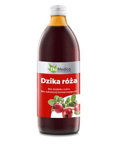 EKAMEDICA Dzika róża sok 100% - 500 ml - Apteka internetowa Melissa