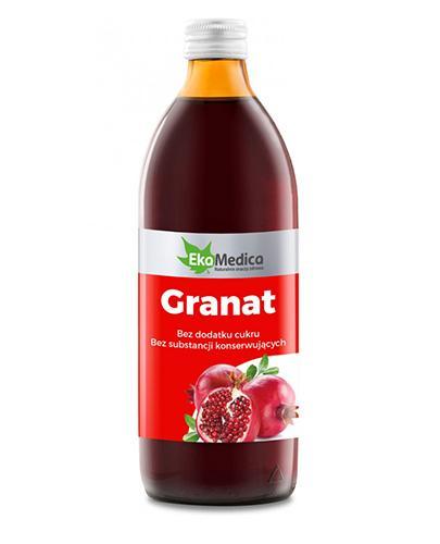 EKAMEDICA Granat sok 100% - 500 ml - Apteka internetowa Melissa