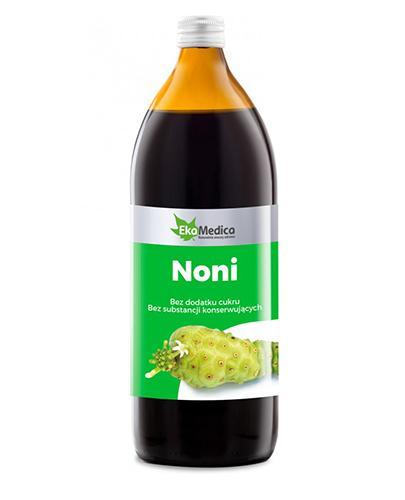 EKAMEDICA Sok z owoców noni z polinezji francuskiej 100% - 1000 ml Data ważności: 2017.01.31