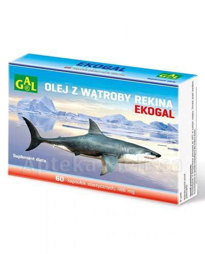 EKOGAL Olej z wątroby rekina 466 mg - 60 kaps.