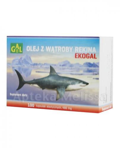 EKOGAL Olej z wątroby rekina 466 mg - 100 kaps. - Apteka internetowa Melissa