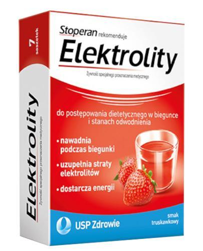 ELEKTROLITY Smak truskawkowy - 7 sasz. (Stoperan rekomenduje) - Apteka internetowa Melissa