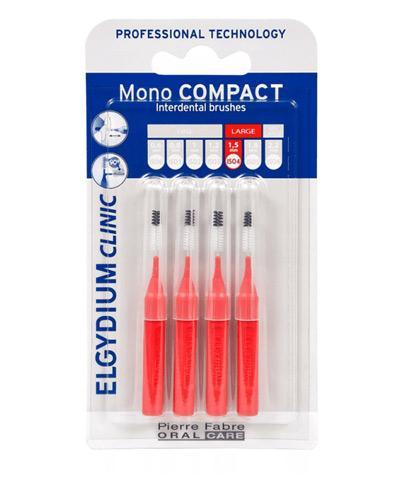 Elgydium Clinic Mono Compact Szczoteczki międzyzębowe 1,5 mm czerwone - 4 szt. - cena, opinie, stosowanie  - Apteka internetowa Melissa