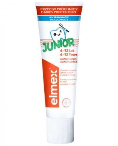 ELMEX JUNIOR Pasta do zębów dla dzieci 6-12 lat - 75 ml - cena, opinie, wskazania