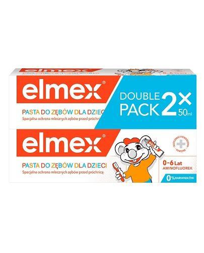 ELMEX Pasta do zębów dla dzieci 1-6 lat - 2 x 50 ml (DUOPACK)  - Apteka internetowa Melissa