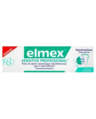 ELMEX SENSITIVE PROFFESIONAL Pasta do zębów - 75 ml - cena, opinie, wskazania