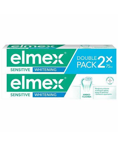 ELMEX SENSITIVE WHITENING Pasta do zębów - 2 x 75ml (DUOPACK) - cena, opinie, stosowanie