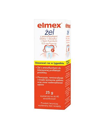 ELMEX Żel do fluoryzacji z aminofluorkiem - 25 g - Apteka internetowa Melissa
