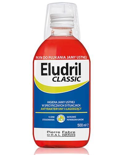ELUDRIL CLASSIC Płyn do płukania jamy ustnej - 500 ml - Drogeria Melissa