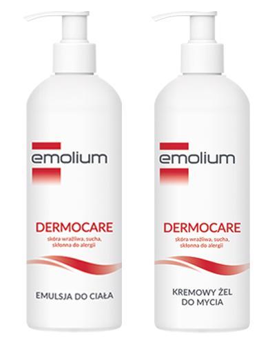 EMOLIUM DERMOCARE Kremowy żel do mycia - 400 ml + EMOLIUM DERMOCARE Emulsja do ciała - 400 ml - Apteka internetowa Melissa