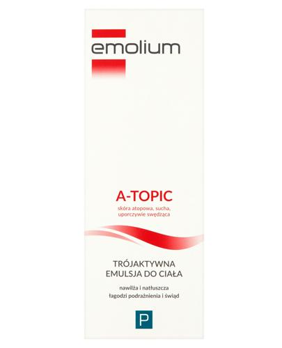 EMOLIUM A-TOPIC Trójaktywna emulsja do ciała - 200 ml