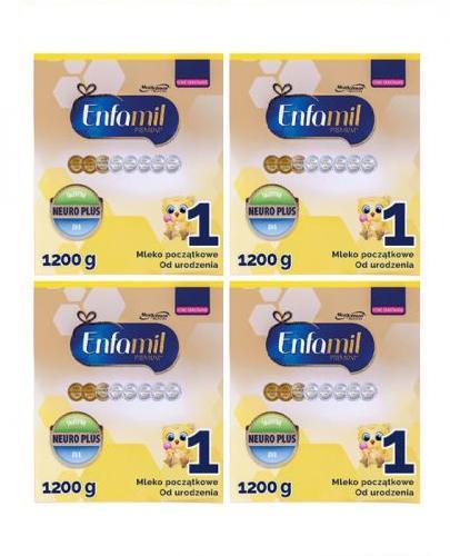 ENFAMIL 1 PREMIUM LIPIL 0-6 mcy Mleko modyfikowane - 4x1200 g