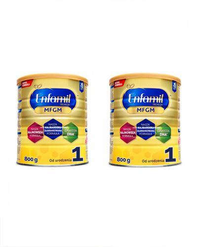 ENFAMIL 1 PREMIUM MFGM 0-6 mcy Mleko modyfikowane w proszku - 2 x 800 g