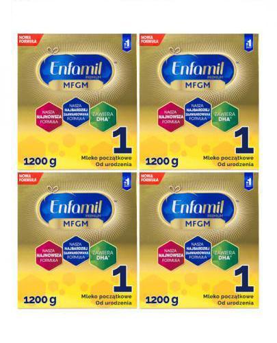 ENFAMIL 1 PREMIUM MFGM 0-6 mcy Mleko modyfikowane w proszku - 4 x 1200 g