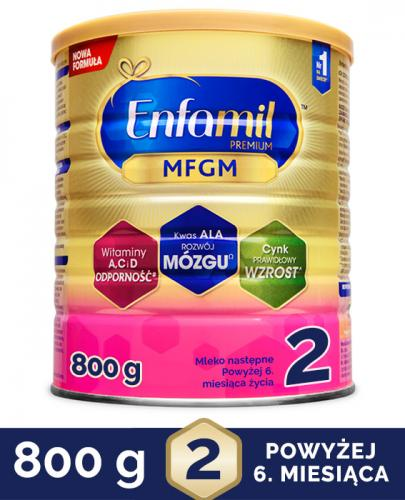 ENFAMIL 2 PREMIUM MFGM 6-12 mcy Mleko modyfikowane w proszku - 800 g - cena, opinie, właściwości