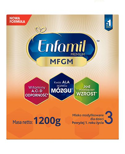 Enfamil 3 Premium MFGM powyżej 1 roku Mleko modyfikowane - 1200 g - cena, opinie, skład - Apteka internetowa Melissa