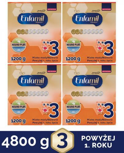 ENFAMIL 3 PREMIUM powyżej 1 roku Mleko modyfikowane - 4x1200 g