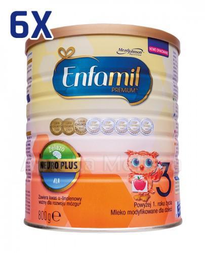 ENFAMIL 3 PREMIUM powyżej 1 roku Mleko modyfikowane - 6 x 800 g - Apteka internetowa Melissa