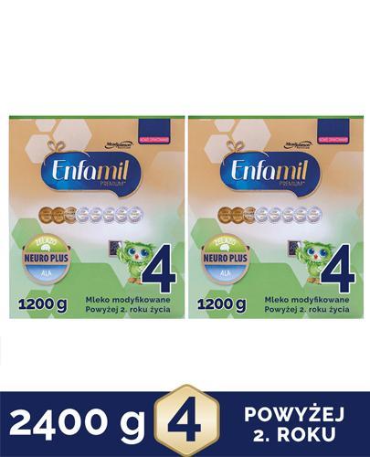 ENFAMIL 4 PREMIUM powyżej 2 roku Mleko modyfikowane - 2x1200 g - Apteka internetowa Melissa