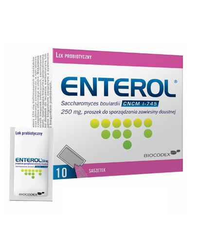 ENTEROL 250 - 10 sasz. Lek probiotyczny przeciw biegunce - cena, opinie, wskazania