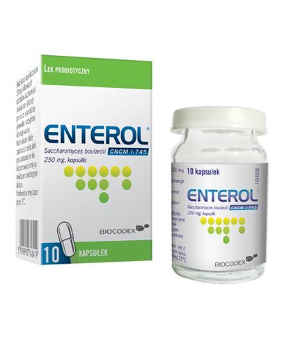 ENTEROL 250 mg - 10 kaps. - Lek przeciw biegunce - cena, opinie, wskazania - Apteka internetowa Melissa