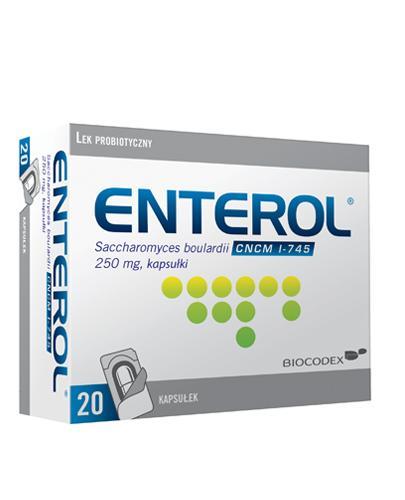 ENTEROL 250 mg - 20 kaps. - Lek przeciw biegunce - cena, opinie, wskazania - Apteka internetowa Melissa