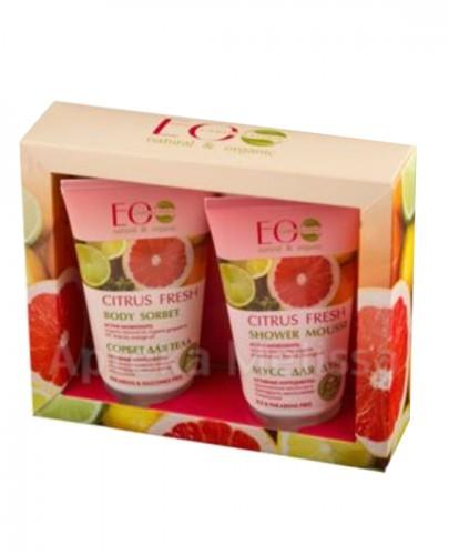 ECO LAB CITRUS FRESH Mus pod prysznic - 150 ml + Krem sorbet do ciała - 150 ml