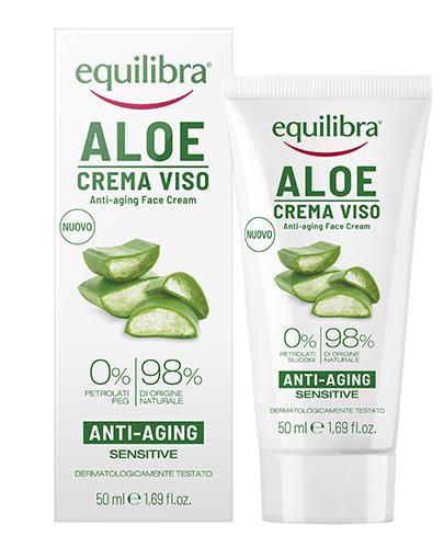 EQUILIBRA Aloesowy krem do twarzy przeciwstarzeniowy - 50 ml