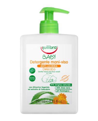 EQUILIBRA BABY Delikatne mydło do rąk i twarzy 0m+ - 250 ml  - Apteka internetowa Melissa
