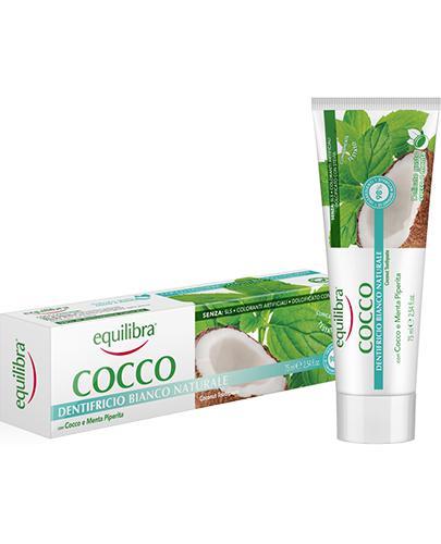 Equilibra Kokosowa pasta do zębów Naturalna biel - 75 ml - cena, opinie, skład - Drogeria Melissa