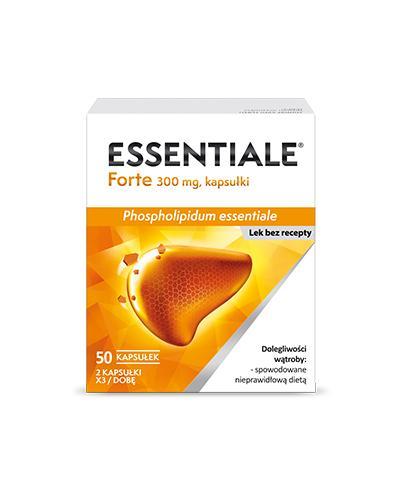 ESSENTIALE FORTE 300 mg - 50 kapsułek. Na wątrobę - cena, opinie, wskazania - Apteka internetowa Melissa