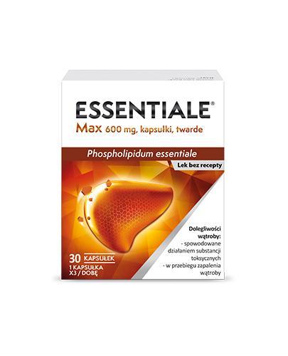 ESSENTIALE MAX 600 mg - 30 kapsułek. Na wątrobę. - Apteka internetowa Melissa
